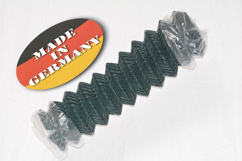 Maschenweite 60 x 60 mm Drahtst/ärke 2,8 mm gr/ün 25 m Rolle 1250 mm H/öhe GAH-Alberts 604769 Maschendraht-Geflecht