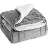 Bedsure Fuzzy Textured Reversible Sherpa Warm Blanket