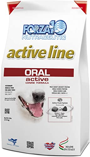 Forza10 Active Oral Care Dry Dog Food, Single Source Protein Dry Dog Food for Dental Health and Dog Breath