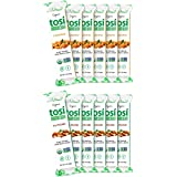 Tosi Organic SuperBites Vegan Snacks, Keto-Friendly, Best Sellers Combo 6 Almond and 6 Cashew, Gluten Free, Omega 3s, Fiber,