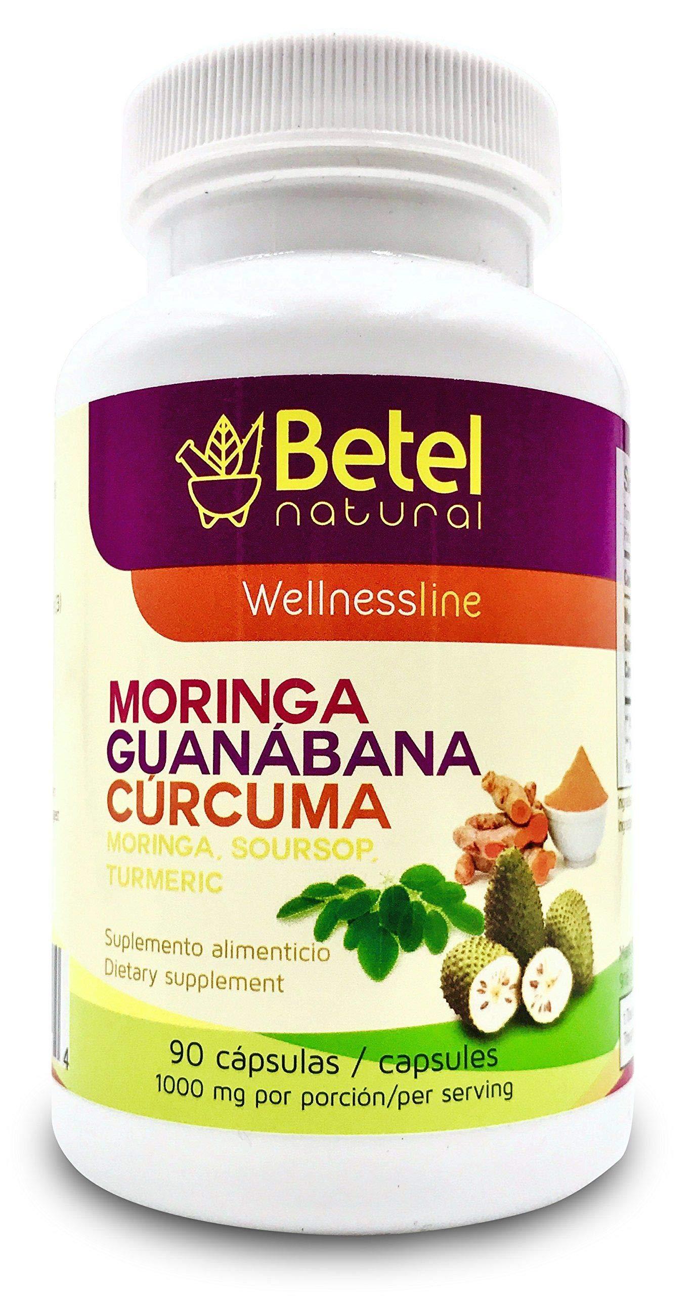 Moringa Guanabana and Curcuma 90 Capsules - Betel Natural