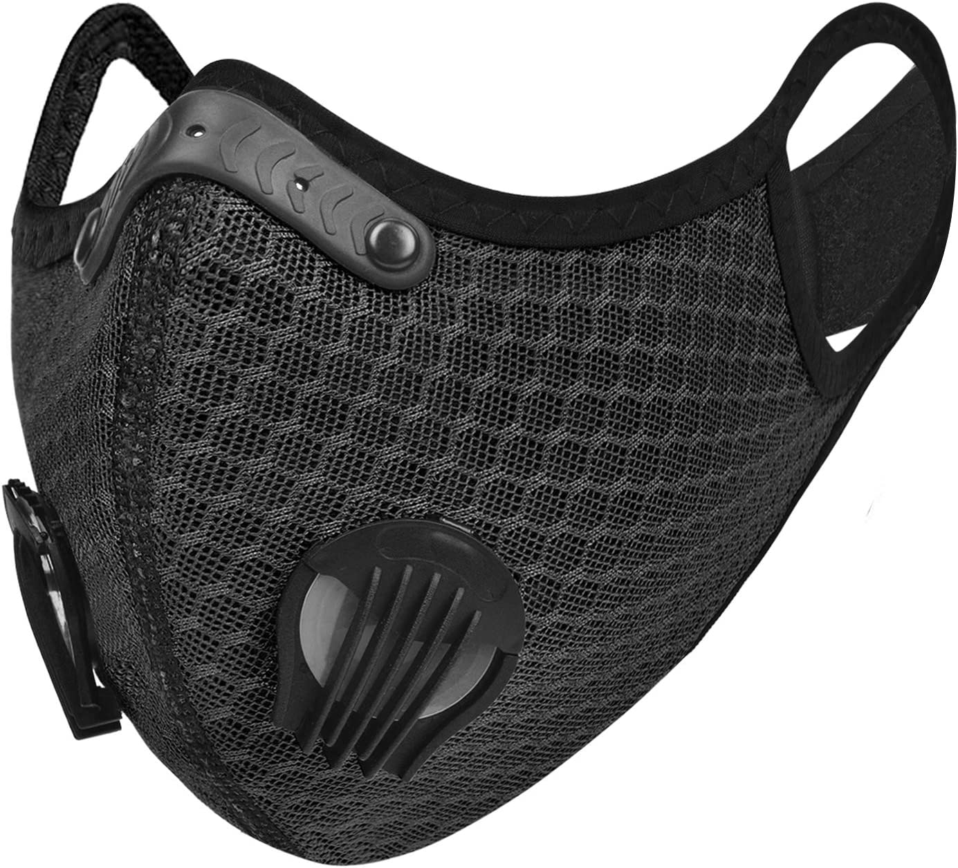 UTOTEBAG Breathable Face Mask with Valves Ventilated Sports Elevation Masks for Men Women Workout Exercise Training Gym, Black : Sports & Outdoors