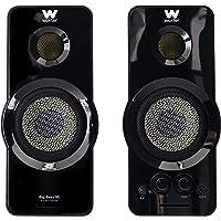 Woxter Big Bass 95 - Altavoces Multimedia Estéreo, 20W, Potentes, conexión 3,5mm, Botones y conexiones AUX y CASCOS en…