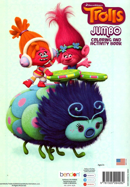 DreamWorks Trolls Jumbo Coloring /& Activity Book Bendon Rock N Troll