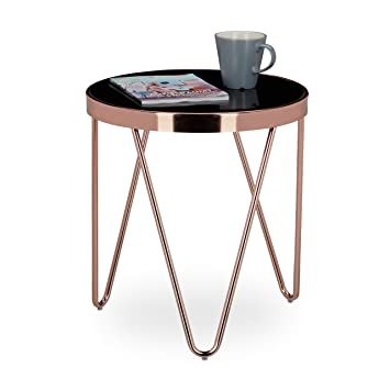 small coffee tables unique relaxdays copper side table made of copper and black glass small coffee table size