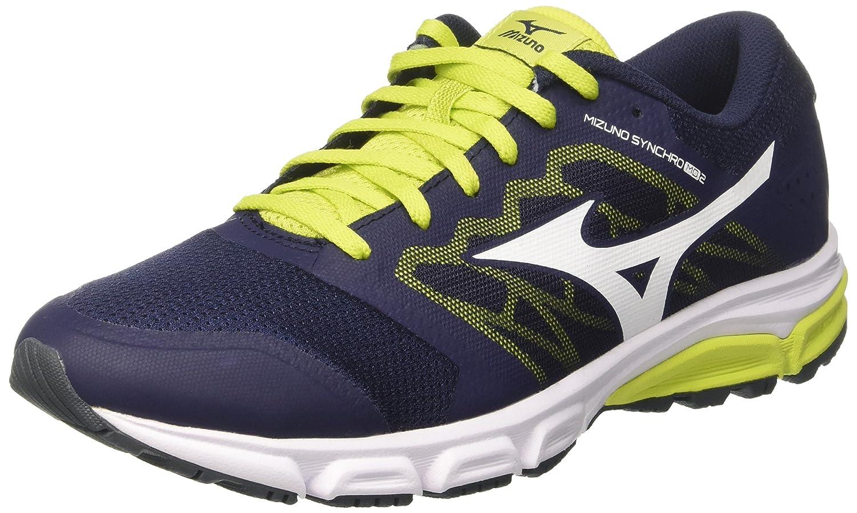 Mizuno Synchro MD, Zapatillas de Running para Hombre 44 EU Multicolor (Peacoat/White/Sulphurspring)