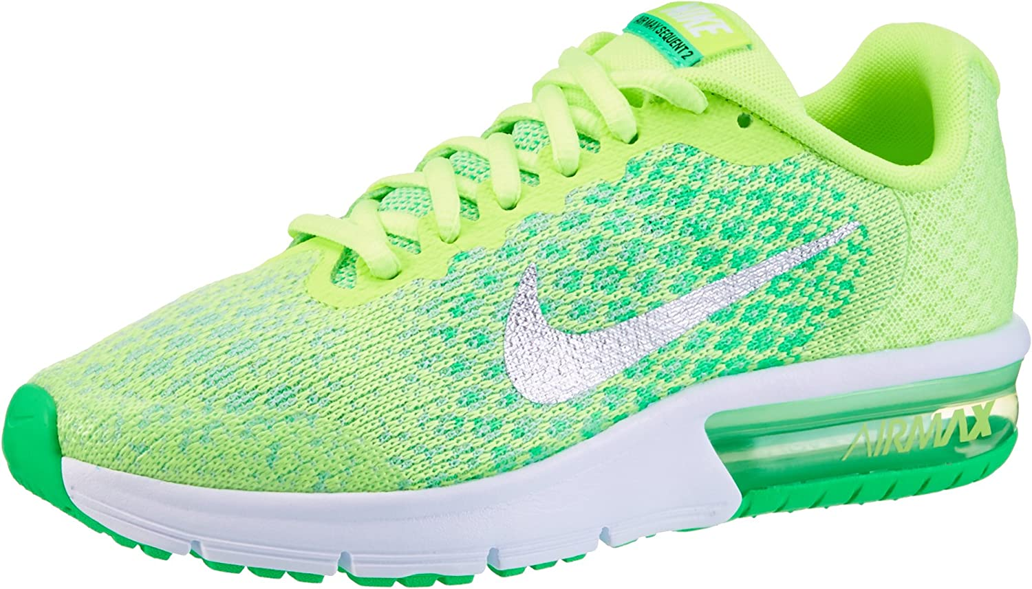 Nike Air Max Sequent 2 Chaussures de Running Fille, Vert