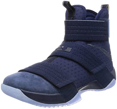 Nike Men's Lebron Soldier 10 SFG Basketball Shoes-Navy-8