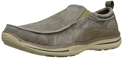 Skechers Collection Mocasines para hombre marrón superior y