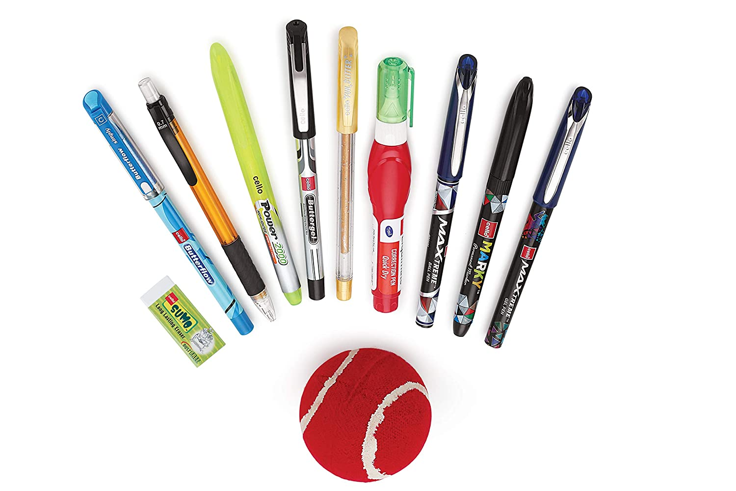 Cello Cricket Fever Stationery Box with Ball + Scratch Card to meet Bumrah