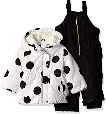 Carters Baby-Girls 2-Piece Heavyweight Printed Snowsuit with Ears Snow Bib