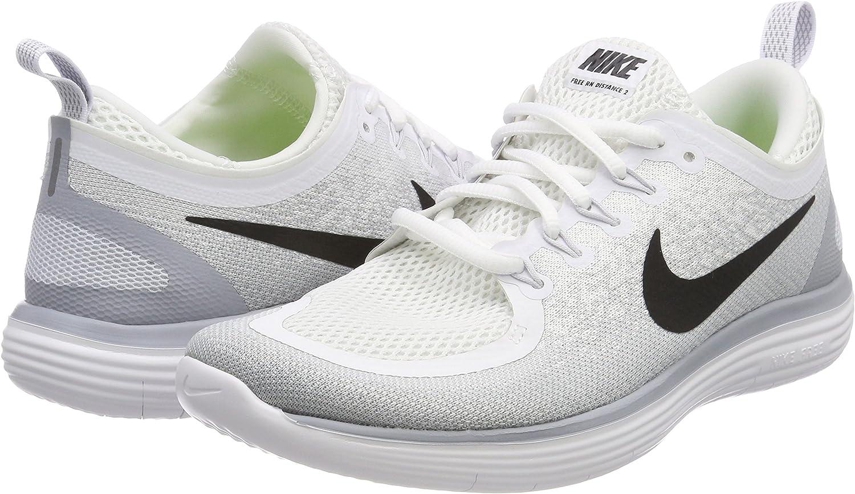 Nike Free RN Distance 2, Zapatillas de Running para Hombre, Blanco (Blanco/Negro/Gris/Platino Pursho 100), 40 EU: Amazon.es: Zapatos y complementos