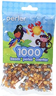 Metallic Mix Assorted Perler Beads for Kids Crafts, 1000 pcs