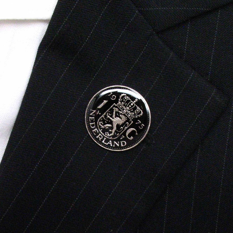 Netherlands Coin Tie Tack Lapel Pin Flag Nederland Dutch Holland Amsterdam Stropdas Reversspeldje juwelen by Marcos Villa (Image #2)