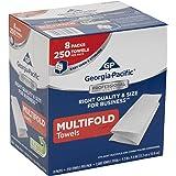 "Georgia-Pacific 2212014 Multifold Paper Towels (WxL) 9.2"" x 9.4"" (Case of 8 Packs, 250 Towels per Pack)"