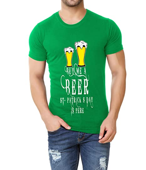 175bd430d Miracle(Tm) St.Patricks Day Sarcastic Party Shirt - Mens Funny Wine Green