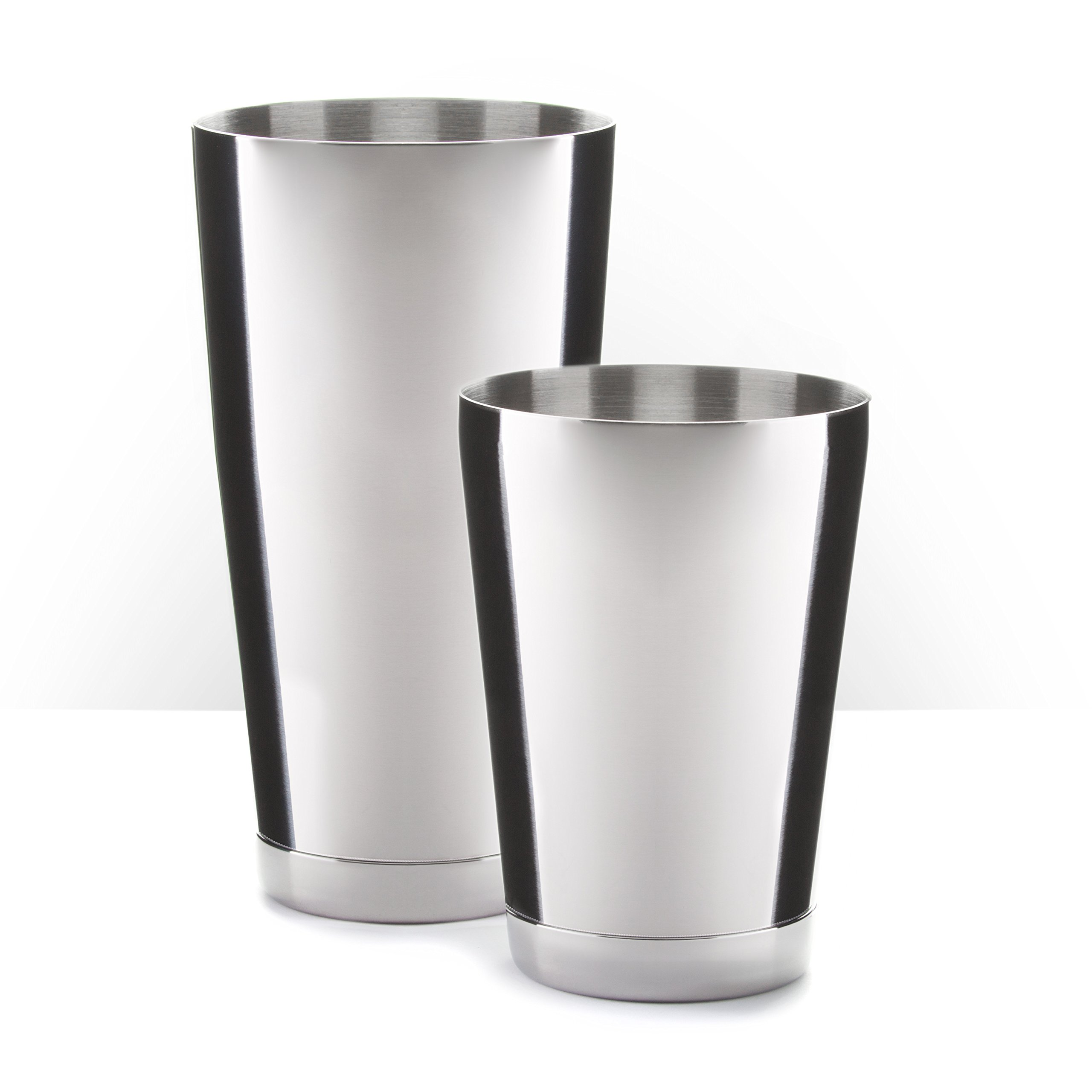 Piña Barware Stainless Steel Commercial Bar Boston Shaker Tin Set - 28oz. & 18oz.