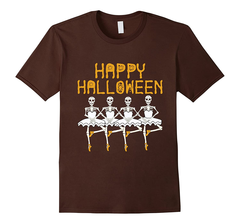 Happy Halloween Skeleton Ballet Dance Party Funny T Shirt