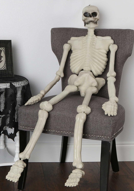 Halloween Party Mr Bones Life Size Poseable Skeleton Prop Decoration 1.5 m
