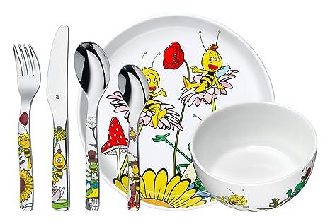 WMF La abeja Maya - Vajilla para niños 6 piezas, incluye plato, cuenco y