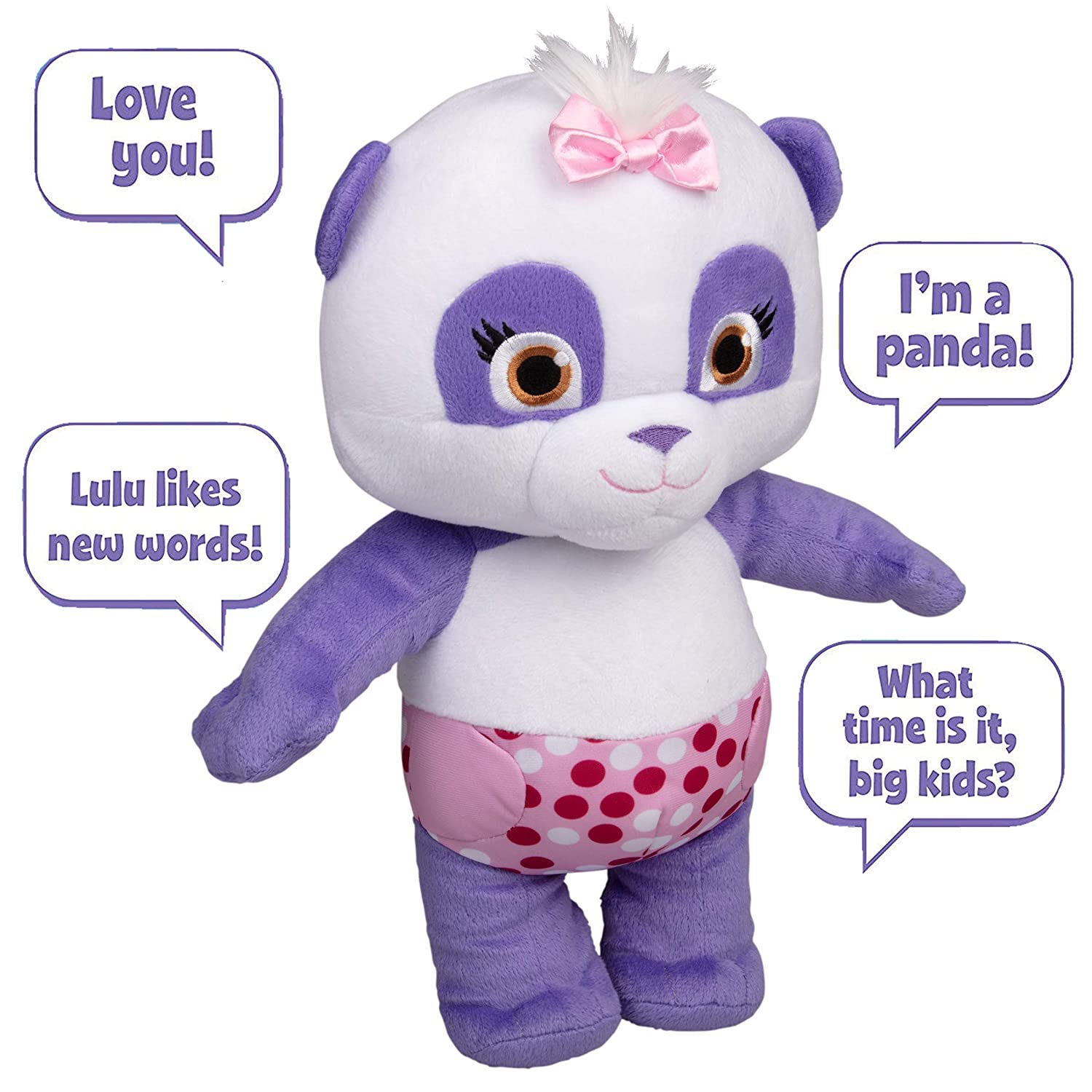 Snap Toys Word Party Talking 12 Inch Baby Lulu Plush - Press Lulu's Tummy to Hear Phrases from The Netflix Original Series - Ages 1+