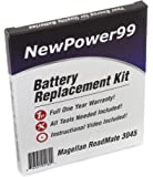 Battery Replacement Kit for Magellan RoadMate 3045 with Installation Video, Tools, and Extended Life Battery.