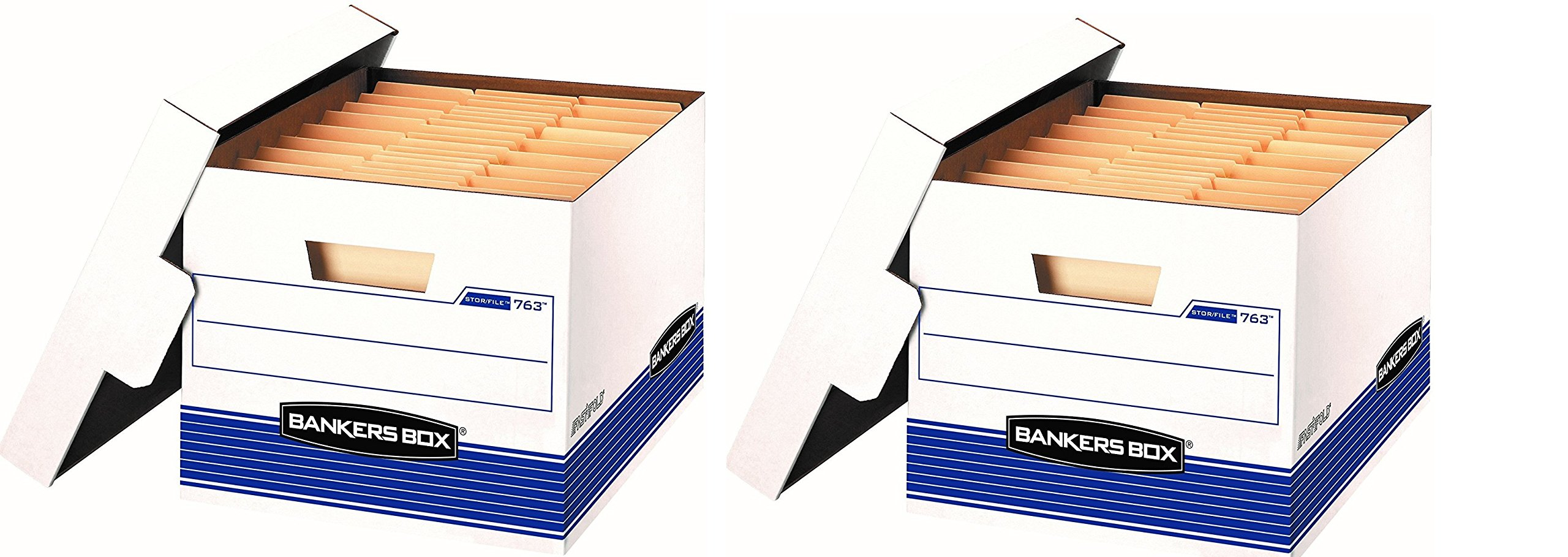 Bankers Box Stor/File Medium-Duty Storage Boxes with Lift-Off Lid, Letter/Legal, 20 Pack (0076315) (Pack of 2)