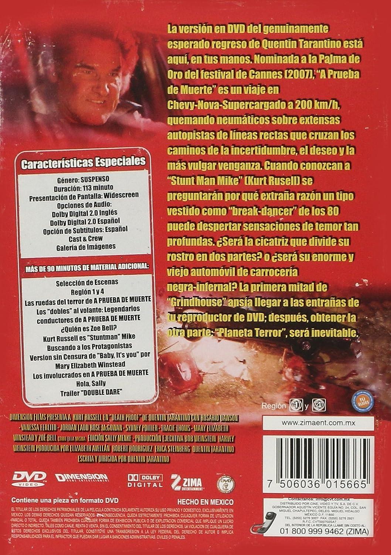 Amazon.com: A Prueba de Muerte (Death Proof) [*Ntsc/region 1 & 4 Dvd. Import-latin America]: Kurt Russell, Rosario Dawson, Vanessa Ferlito, Jordan Ladd, ...