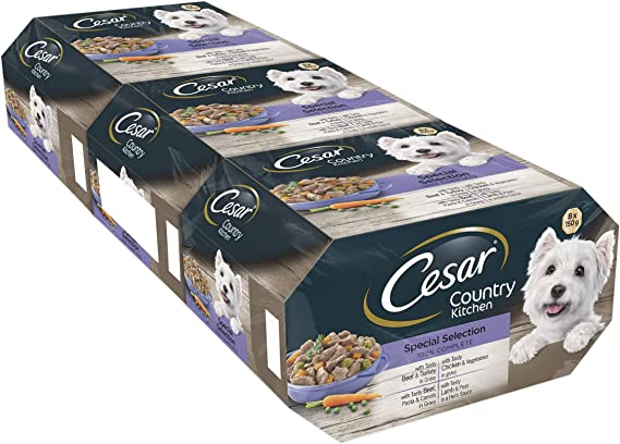 Cesar Country Kitchen - Comida para perros, selección especial, 8 x 150 g, paquete de 3: Amazon.es: Productos para mascotas