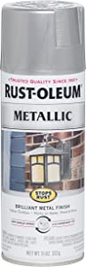 Rust-Oleum 7271830 Stops Rust Metallic Spray Paint, 11 oz, Silver