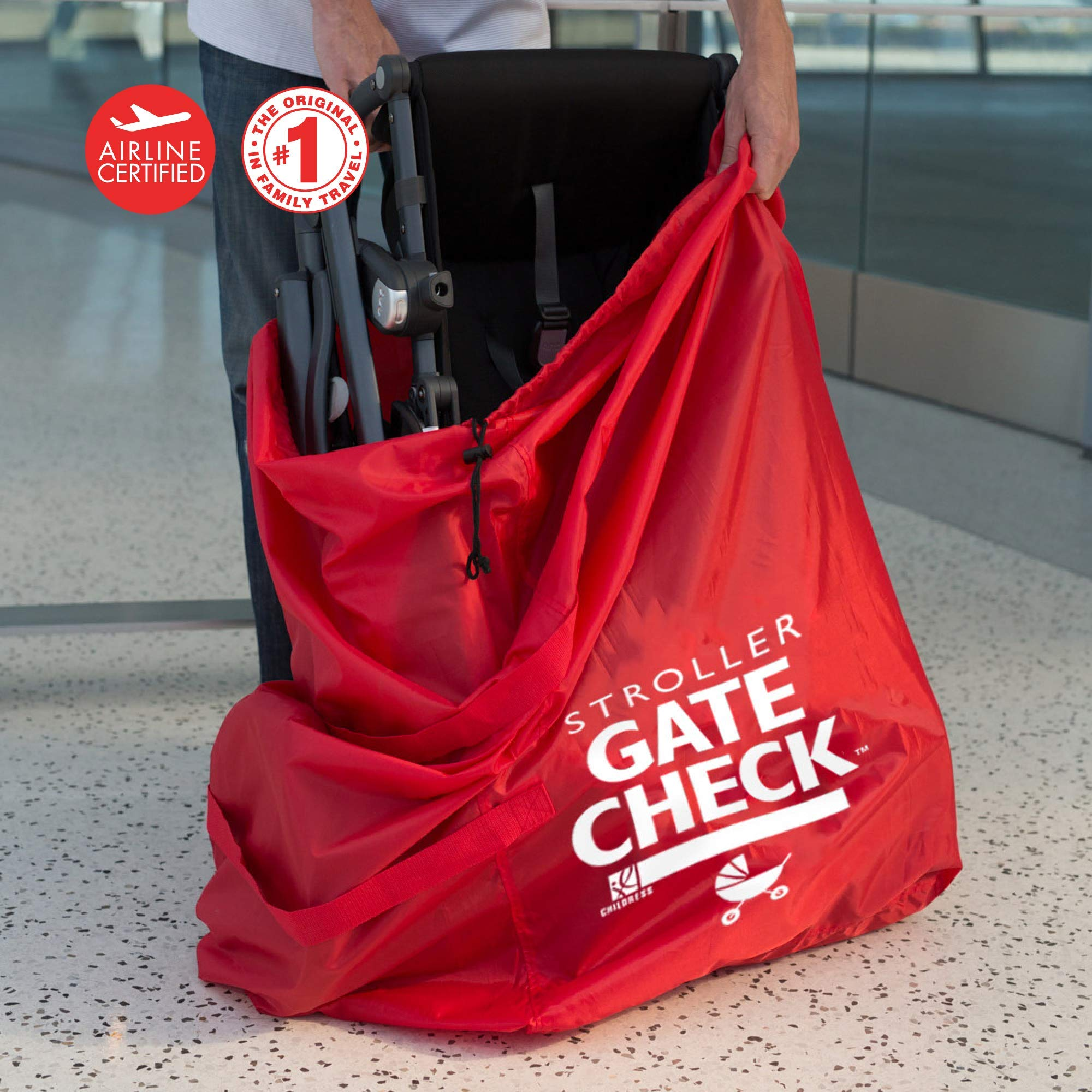 J.L. Childress Gate Check Bag For Standard and Double Strollers, Red by J.L. Childress (Image #7)