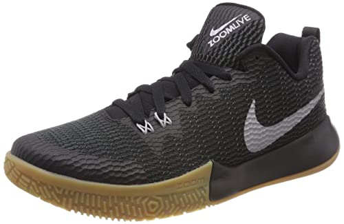 Nike Zoom Live II, Zapatos de Baloncesto para Hombre, Negro (Black/Bleu Reflect Silver-Anthracite 001), 42 EU: Amazon.es: Zapatos y complementos