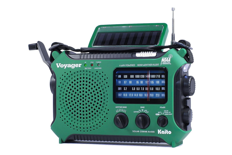 Amazon.com: Kaito KA500GRN 5-Way Powered Emergency AM/FM/SW Weather ...