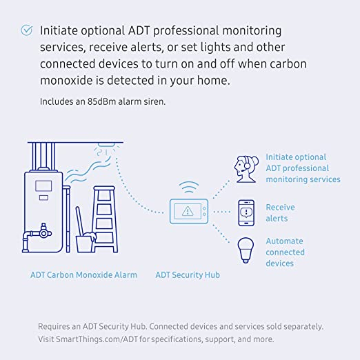 Amazoncom Samsung Smartthings Adt Carbon Monoxide Alarm Home Improvement: Adt Bell Box Wiring Diagram At Johnprice.co
