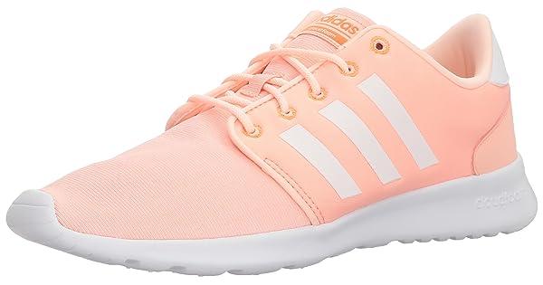 premium selection f48e0 deefd adidas Women s CF QT Racer W, Haze Coral White Hi-Res Orange, 5 M US
