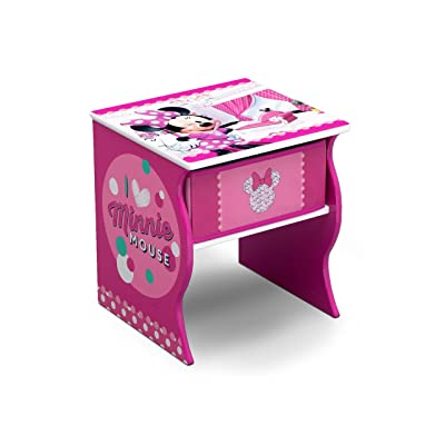 Delta Children Side Table with Storage, Disney Minnie Mouse : Baby