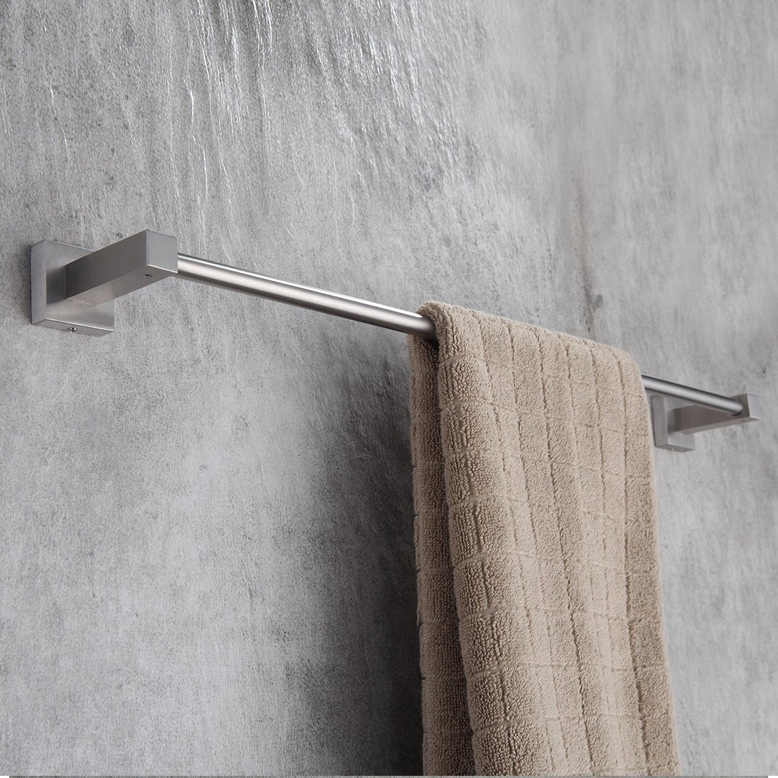 Fapully 100512S Fapully Stainless Steel 23.6-Inch Towel Bar Bathroon Towel Holder Wall Mounted,Brushed Nickel Finish