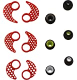 BLUEWALL 3 Pairs L, M, S Replacement Ear Fins Ear hooks Ear Cushions For JayBird BlueBuds X2, X Mpow Bluetooth Sport Headphones With 3 Pairs Replacement Silicone Eartips Earbuds , Red