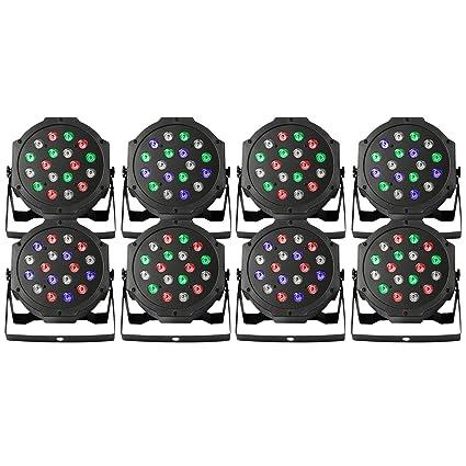 BestEquip Par LED Stage Light 8 PCS Par Lights 18X3W Stage Lighting for Club DJ Show  sc 1 st  Amazon.com & Amazon.com: BestEquip Par LED Stage Light 8 PCS Par Lights 18X3W ...