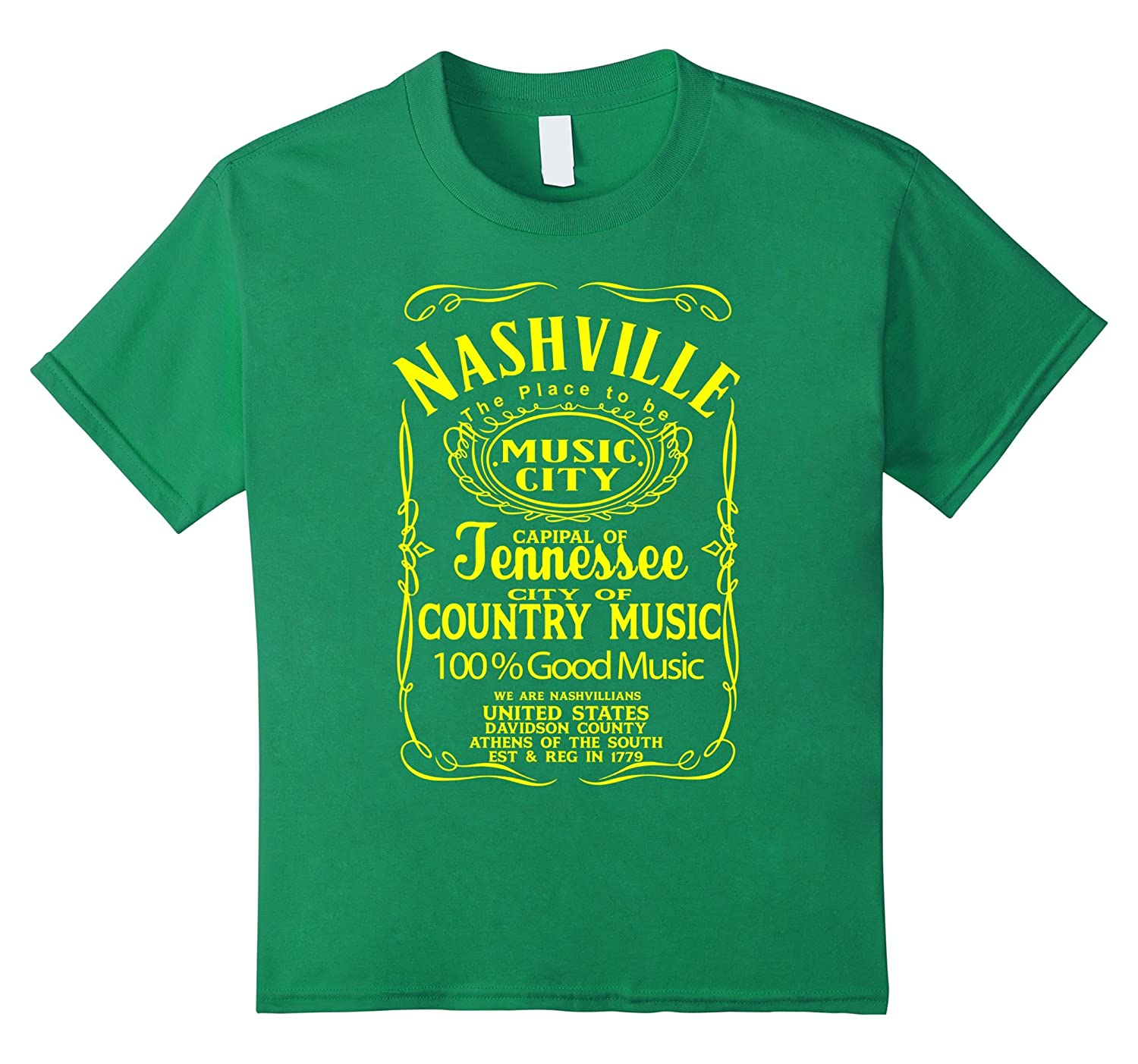 Nashville Tennessee Country Music T Shirt-Xalozy