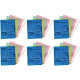 Smead Project Jackets, Letter, Poly, Clear/Translucent: Blue/Green/Yellow, Pack of 5, 6 Packs