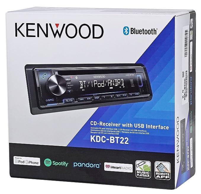 Amazon.com: Kenwood 1-Din CD Receiver w/Bluetooth iPod/iPhone/Pandora for 1995-99 Dodge Neon: Car Electronics