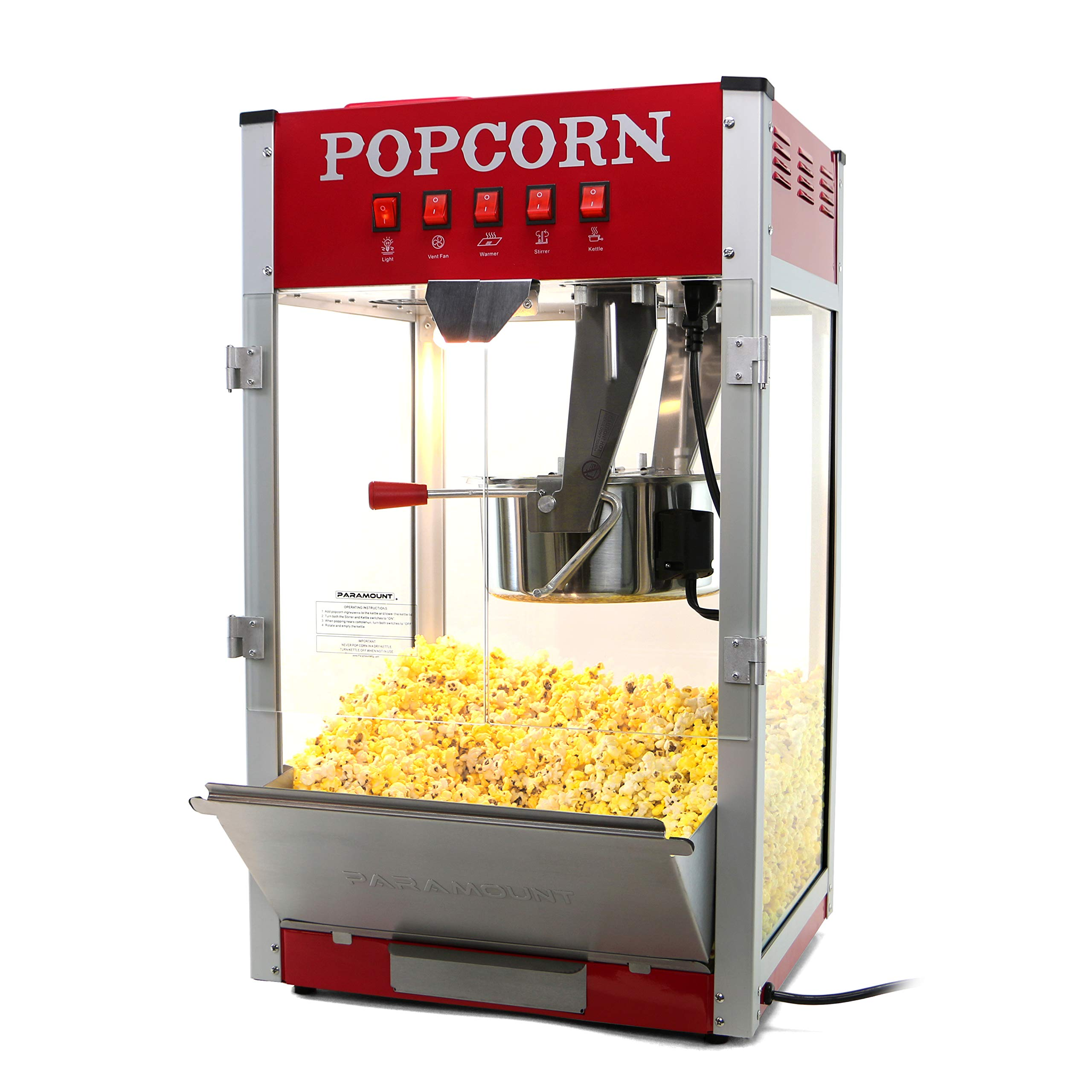 Paramount 16oz Popcorn Maker Machine - New 16 oz Hot Oil Commercial Popper [Color: Red] by Paramount