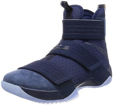 Nike Men\u0027s Lebron Soldier 10 SFG Basketball Shoes-Navy-8