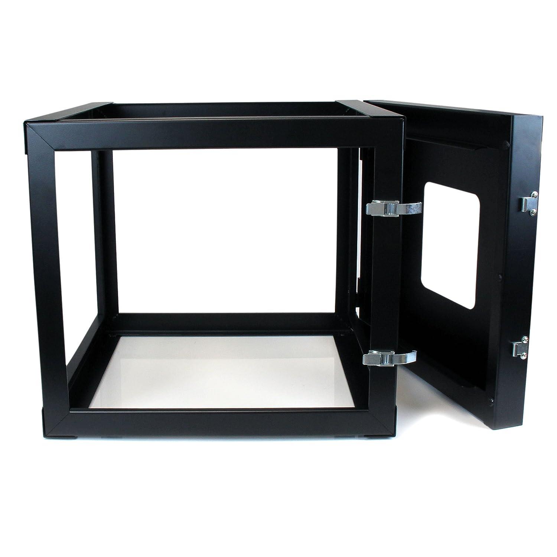 8u Wall Mount Cabinet Amazoncom Startechcom 8u 22 Inch Hinged Open Frame Rack Cabinet