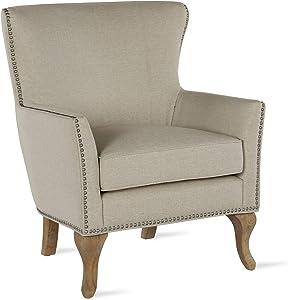 Dorel Living DA7903S-BG Reva, Beige Accent Chair, Beige, Beige