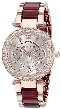 ea41d96ccc89 Image Unavailable. Image not available for. Color  Michael Kors Women s  Mini Parker Two-Tone Watch MK6239