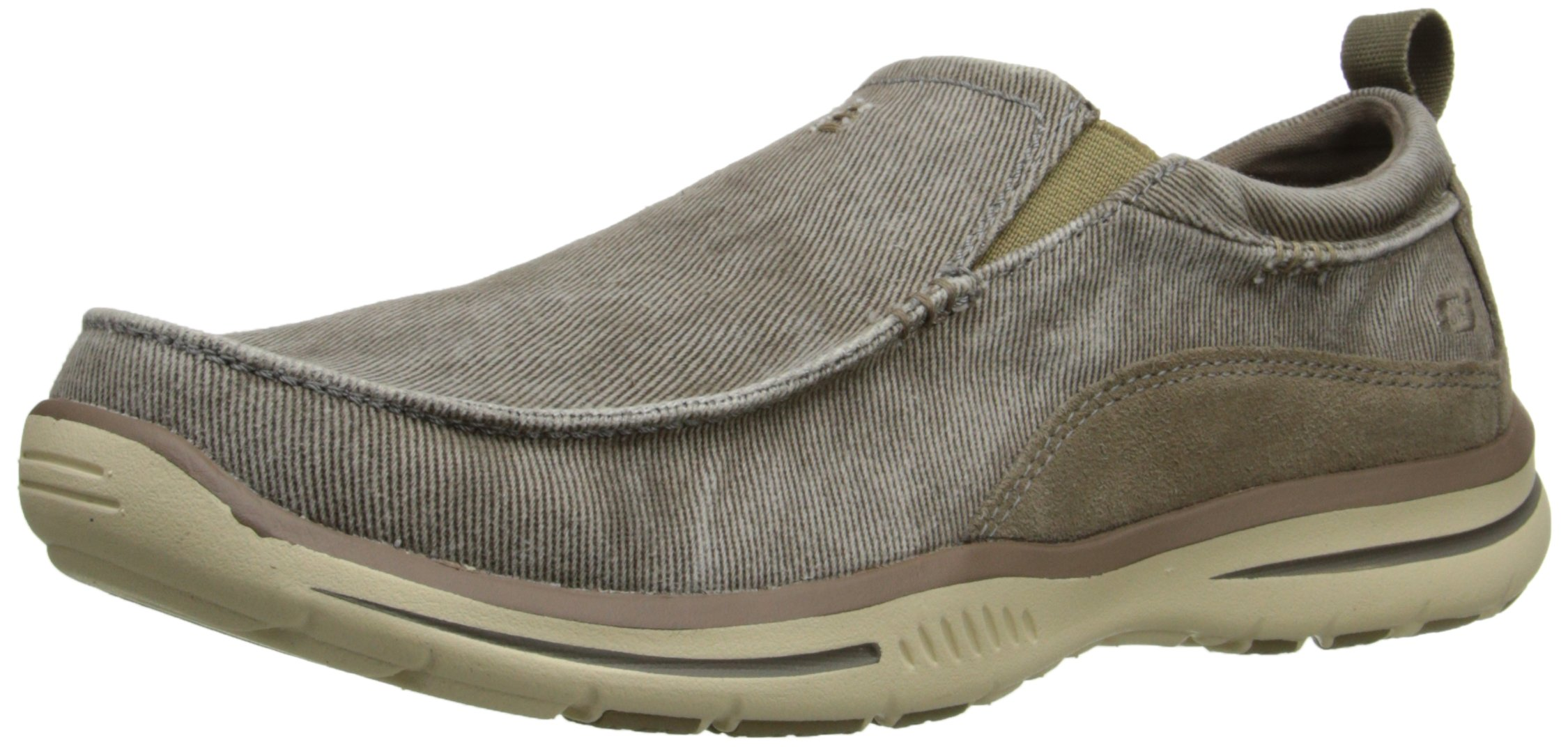 Skechers Men's Relaxed Fit Elected Drigo Slip-On Loafer,Taupe,11.5 D US by Skechers