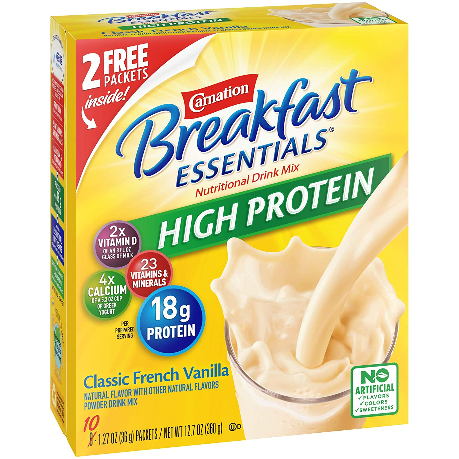 Carnation Breakfast Essentials 60-Count 1.27oz High Protein Powder Drink Mix $24 at Amazon Coupon