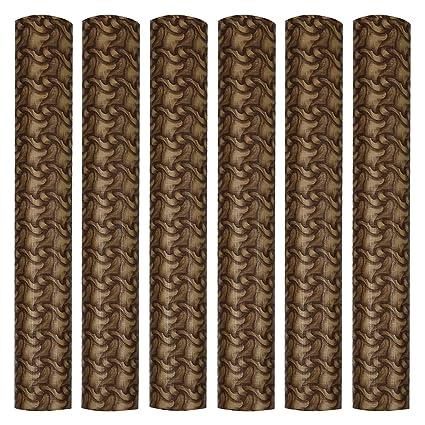 Jinglejwells ARADENT PVC Multipurpose Anti Slip Shelf Linen Roll for Cabinets, Kithen Shelves, Drawer, 18 X 10 m (Brown)
